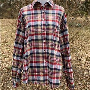 Cruel Girl plaid button down shirt XL